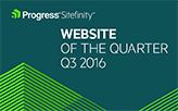 Sitefinity Site of the Quarter: Q3 2016