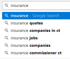 Insurance Search Results on Google