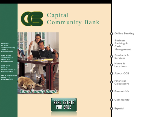 Capital Community Bank new website