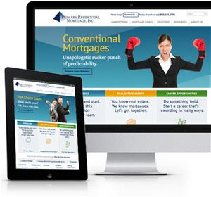 Primary Residential Mortgage responsive website