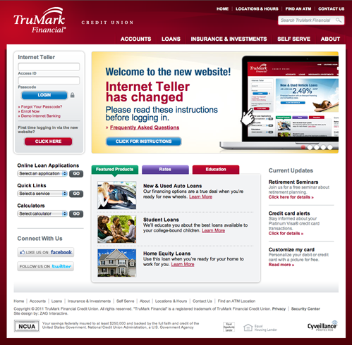 TruMark Financial's new website