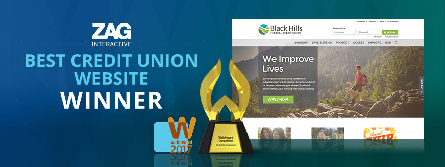 best credit union website webaward
