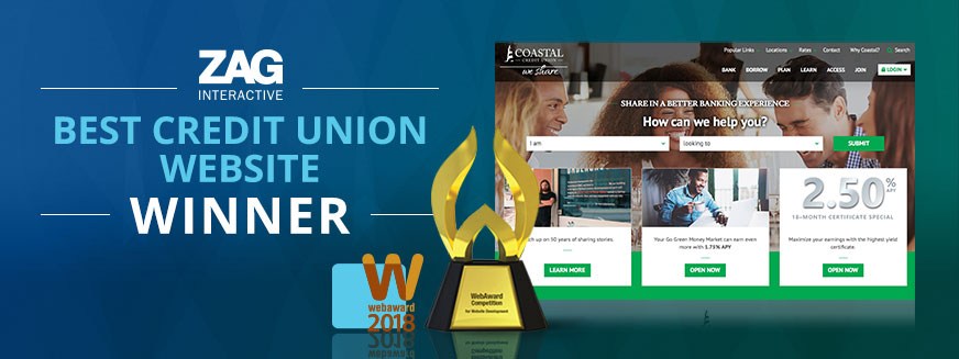 Coastal Credit Union - Best Credit Union Website WebAward