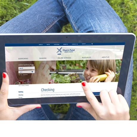 Dutch Point FCU - tablet website