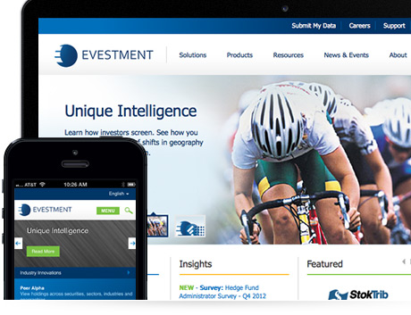 evestment responsive design