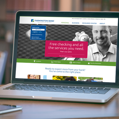 Farmington Bank redesigned website