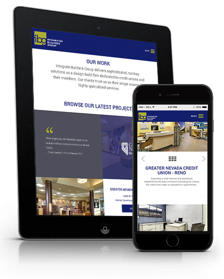 IBG responsive website design