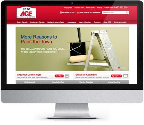 Katz Ace Hardware Web Design and Redesign