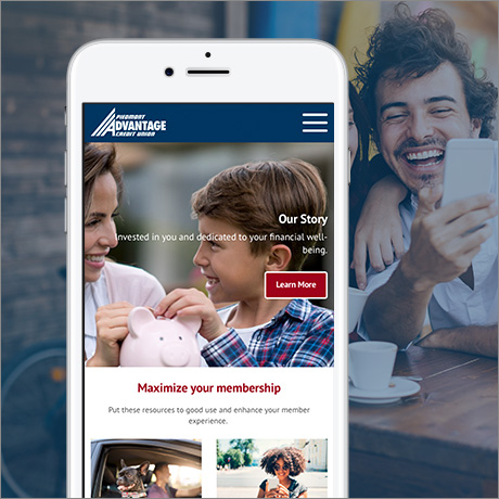 Piedmont Advantage site on mobile device