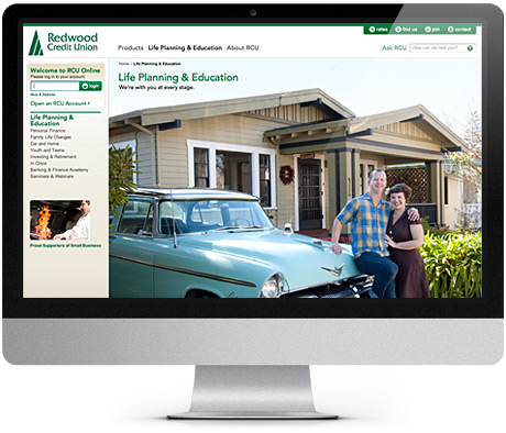 Redwood Credit Union Web Page Design