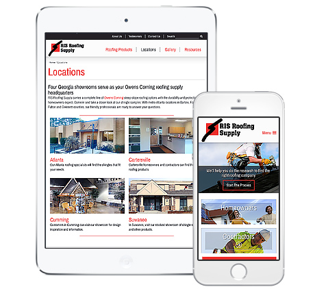 RIS Roofing mobile-friendly webdesign